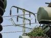 Mast aus der ersten 110 kV-Leitung in Europa